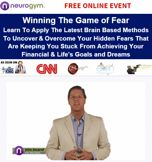 Winning The Game Of Fear John Assaraf Webinar Registration